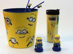 Cubeta, Thermo y Popotes Minios   #minions #kids #colección #mivillanofavorito #fun #entretenimiento