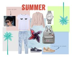 """Verano"" by irisperezsanchez ❤ liked on Polyvore featuring Chicnova Fashion, Calvin Klein, Anya Hindmarch, Passigatti and New Balance"