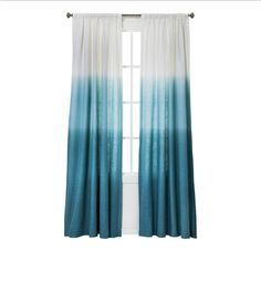 Ombré turquoise curtains(: