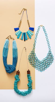 Make a statement this summer with any of these bold, bright turquoise necklaces from Oliver Bonas
