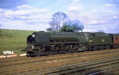 46235 City of Birmingham: Coronation Class 4-6-2 working a football special home from Wembley Stadiun 11th May 1963 This locomotive is on display at Millenium Point in its namesake city. Photo by Barry Austin