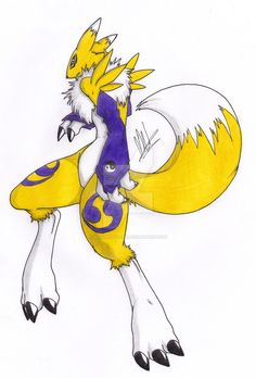 Renamon by LadyRenaTear
