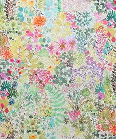 Fresco - Citrus fabric, from the The Nesfield Collection collection by Liberty Art Textile Prints, Textile Patterns, Textile Design, Fabric Design, Floral Patterns, Motif Floral, Arte Floral, Floral Prints, Floral Fabric