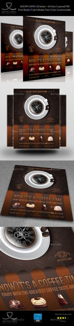 New Arrival Flyer Template Vol3 Flyer template, Template and - coffee shop brochure template