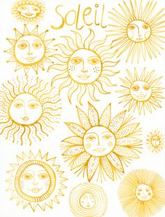 Klika Design: Creativebug Drawing Challenge with Lisa Congdon Day 29: sun