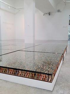 Do Ho Suh - Artist: Floor, 1997-2000 (detail) PVC Figures, Glass Plates, Phenolic Sheets, Polyurethane Resin 6 modules, each: 39.37 x 39.37 x 3.15 inches 100 x 100 x 8 cm LM6563 - Lehmann Maupin