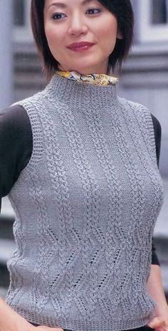 Вязание безрукавки спицами