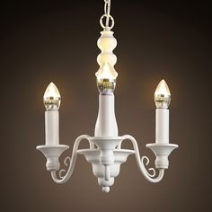125.00$  Watch now - http://aliiru.worldwells.pw/go.php?t=32781933745 - The Nordic minimalist three head American retro pastoral Wrought Iron Chandelier Room Restaurant corridor the Candle Chandelier