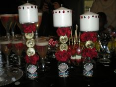 Casino Party Candles