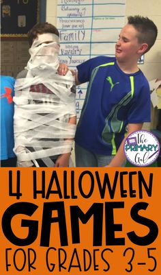 4 Simple & Easy Games for a Classroom Halloween Party Halloween Party Ideas Classroom, Class Party Ideas, Class Halloween Party Ideas, School Holiday Party, Halloween Activities For Kids, Halloween Parties, School Parties, Halloween Crafts, Fall Party Games