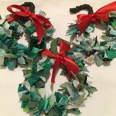 Mini wreaths made during club night on Monday. .  .  🎄🎀🎄🎀🎄  .  #christmascrafting  #christmascrafts  #funcrafts  #christmaswreath   #scrapbusting Custom Printed Fabric, Printing On Fabric, Christmas Wreaths, Christmas Crafts, How To Make Wreaths, Design Your Own, Mini, Fun Crafts, Holiday Decor