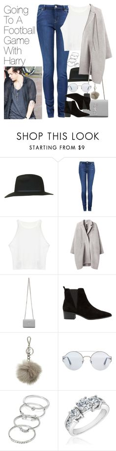 """Football Game with Harry"" by onedirectionimagineoutfits99 ❤ liked on Polyvore featuring Topshop, Paul by Paul Smith, Zero + Maria Cornejo, Yves Saint Laurent, MANGO, MICHAEL Michael Kors, Bottega Veneta, Forever 21 and Reeds Jewelers"