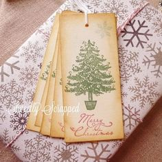 Christmas Tags Christmas Tree Merry by SweetlyScrappedArt on Etsy, $4.50