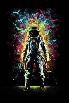 Wallpaper Phone Galaxy Art Prints New Ideas Graffiti Wallpaper, Wallpaper Space, Galaxy Wallpaper, Graffiti Art, Logo D'art, Astronaut Wallpaper, Space Artwork, Space Illustration, Galaxy Art
