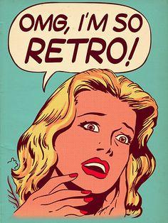 """El """"arte retro """" es un género del arte pop que fue desarrollado en los años 1940…"""