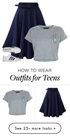 """I Need Space"" by heyitistay on Polyvore featuring New Look and adidas"