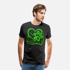 Love Cat Männer Premium T-Shirt T Shirt Designs, Cat Stickers, Cats, Mens Tops, Shopping, Fashion, Woman, Moda, Gatos