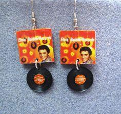 Elvis Presley Golden Records Polymer Clay Earrings