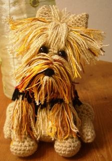 Novice Sandy  on Knitting Paradise found this absolutely adorable pattern for an  Amigurumi Yorkie . The only problem is the pat...