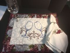 A personal favorite from my Etsy shop https://www.etsy.com/listing/517748528/embroidered-and-quilted-wine-placemat