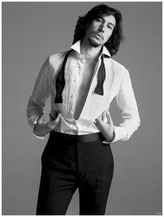 Adam Driver Dons Tuxedo for VMAN Spring/Summer 2015 Cover Photo Shoot