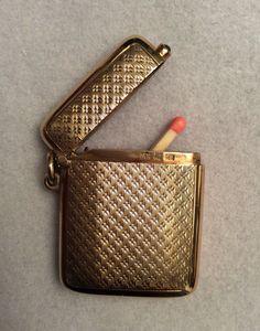 14 ct. solid Gold vesta case/match safe by Louis Kuppenheim.