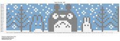 Totoro fair isle. Beanie hat pattern.