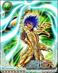 Gold Saint Cancer Deathmask 2 Galaxy Cards version Saint Seiya Legend of Sanctuary