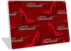 Red Fashionista Shoe Lovers Pattern | Design available for PC Laptop, MacBook Air, MacBook Pro, & MacBook Retina