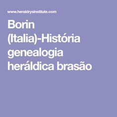 Borin (Italia)-História genealogia heráldica brasão