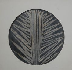 Lubomír Blecha, 1953-55, proposal design for decorative glass disk inspired by the organic symmetry of plants, gouache on paper, D: 29,0 cm, student work on UMPRUM (Academie of applied Arts) Prague, Czechoslovakia