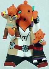 Hopi Indian Mudhead Storyteller Pottery with 2 Kids by Tony Dallas