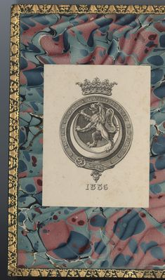 Collins bookplate of Duke of Northumberland (? Ex Libris, Bookbinding, Coat Of Arms, Duke, Vintage World Maps, Personalized Items, Collection, Family Crest, The Sentence