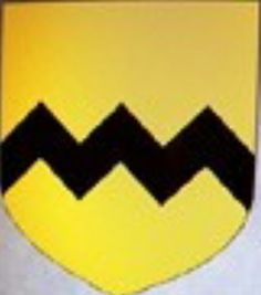 A modern representation of the arms of Vavasour (Or, a fess dancetty Sable).
