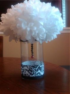 vintage red and black wedding decor | wedding diy centerpiece black red white Centerpieces. this vase is ...