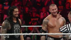 Randy Orton and Roman Reigns #WWE #GIF
