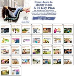 The 30-Day Skinny Jeans Workout Plan. In 30 days you could be back in your skinny jeans--start our challenge today. | via @SparkPeople