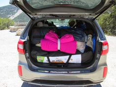 Packed rear of 2015 Kia Sorento