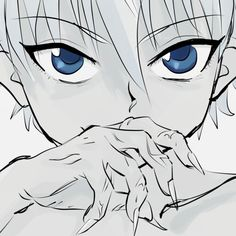 Killua: what if he was a new and advanced weeping angle from doctor who!!!!!?? omg!!!!!!! if he is..... what will happen!!!!