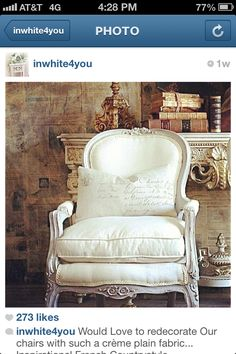 Comfy French chair