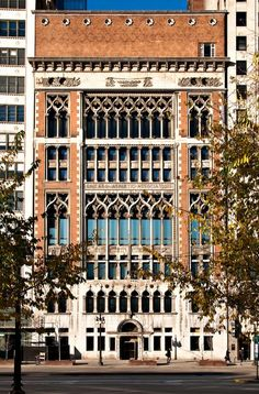 Designed by architect Henry Ives Cobbs, the CAA's Venetian Gothic tower was built in time for the 1893 World's Columbian Exposition, with the idea of making a big impression on visitors who would see it from Lake Michigan. Select rooms at the new Chicago hotel now have views to the lakefront through original gothic traceries and arches.