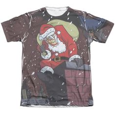 Batman The Animated Series/Joker Claus Adult 65/35 Poly/ Short Sleeve Tee in
