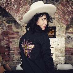 Tbt to darlin @nikkilane77 at @newportfolkfest porting her @levis x #ftlonesome by ftlonesome