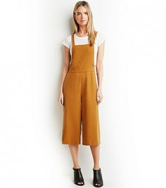 Forever 21 Textures Culotte Overalls