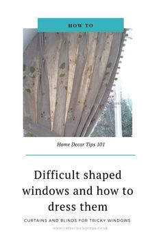 French windows, bow windows, a row of windows, tiny windows with deep recess & more - get ideas & inspiration for dressing awkward window shapes and sizes #trickywindows #difficultwindows #curtains #romanblinds