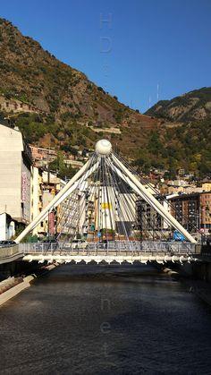 Gran Valira river, Pont de Paris bridge, Andorra La Vella, Andorra