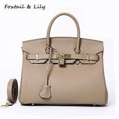f00932b31 Foxtail & Lily Saco do Fechamento de Platina Sacos Bolsas Femininas de  Marcas Famosas de Couro Real Genuine Leather Tote bolsa de Ombro Sacos  Crossbody Loja ...