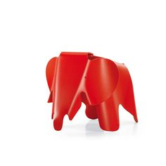 In 1945, Charles and Ray Eames designed a toy elephant made of plywood. However it never made it to mass production.The Eames elephant is now available in a plastic version for those it was originally intended for: children.The Eames Elephant is suitable as a toy for indoors and outdoors or as an item for children's bedrooms.Contact us now for help, for swatch samples, for a personalised quote