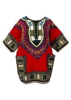 Dashiki Men Shirt African Hippie pop Vintage Women Top Haute Tribal Blouse USA