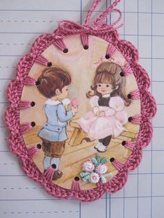Ice Cream for my Sweetheart / Crochet Vintage by ShoeFlower